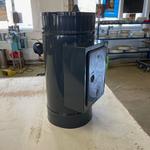 Dvířkový revizní díl o  šíři 0,8 mm na pevná paliva, nástřik RAL MAT černá - 2. pohled